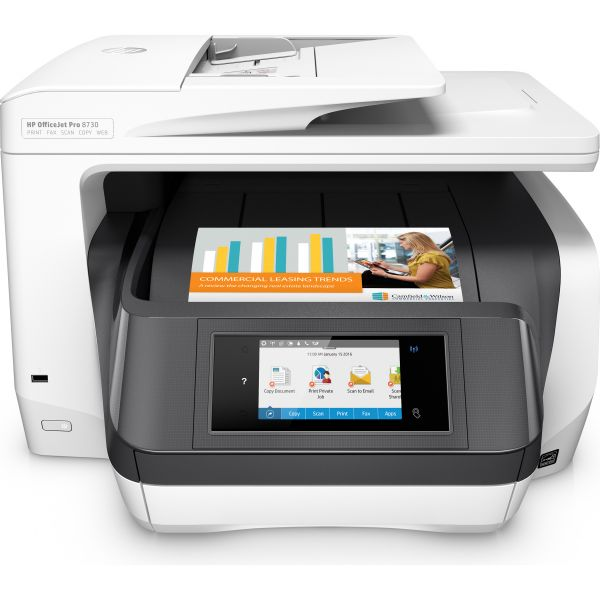HP Officejet Pro 8730 All-in-One Printer, Copy/Fax/Print/Scan