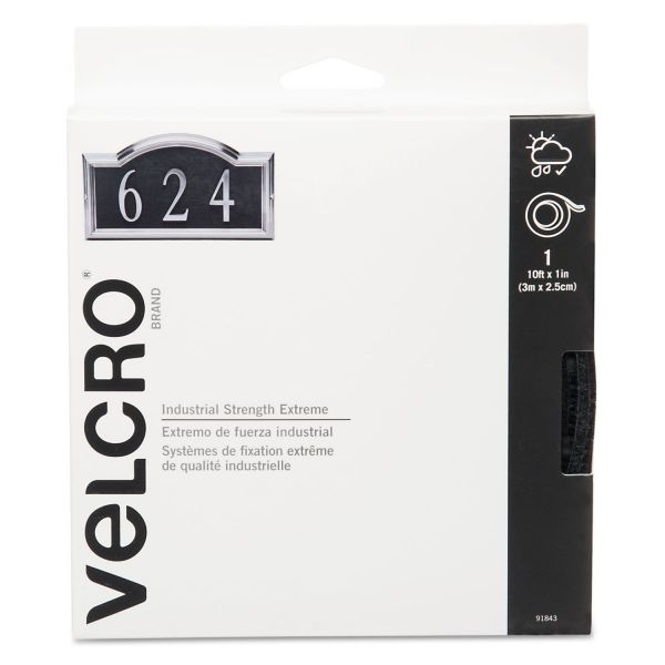"Velcro Extreme Fasteners, 1"" x 10 ft, Black, 1 roll"