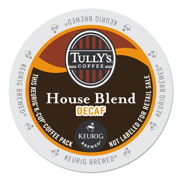 Tully's Coffee House Blend Decaf Coffee K-Cups