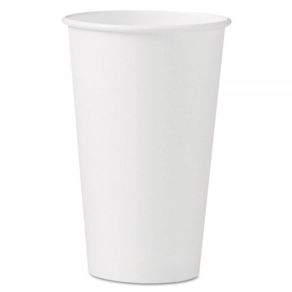 Dart Polycoated Hot Paper Cups, 16 oz, White