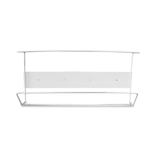 Cottage White Coated Wire Triple Horizontal Glove Box Holder