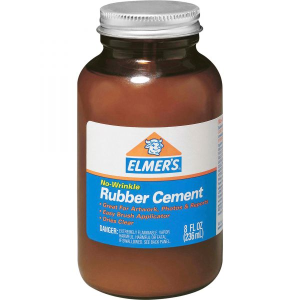 Elmer's No Wrinkle Rubber Cement With Brush