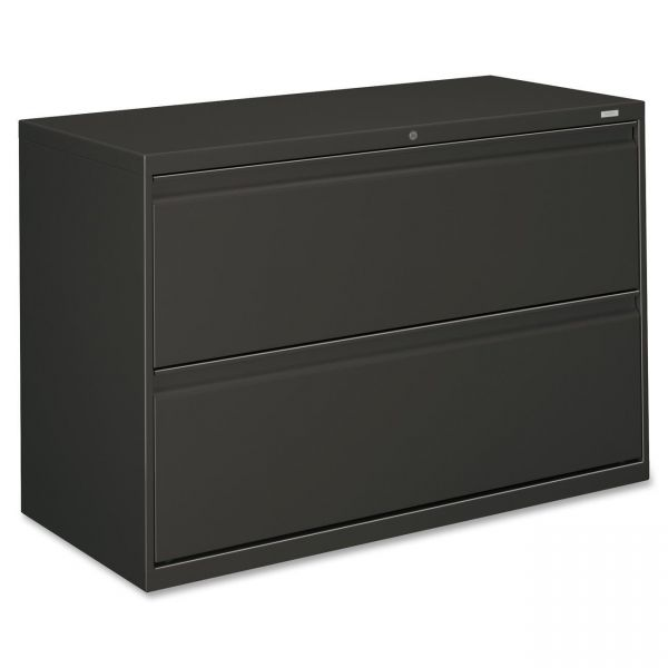 HON 800 Series Two-Drawer Lateral File, 42w x 19-1/4d x 28-3/8h, Charcoal