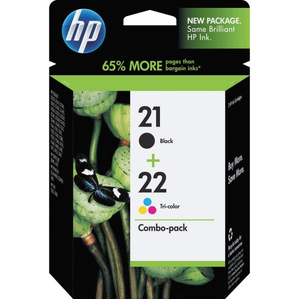 HP 21/22 Combo Pack Ink Cartridges (C9509FN)