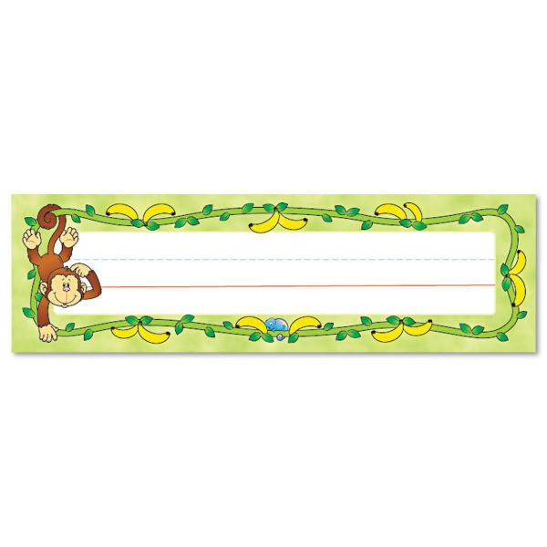 Carson-Dellosa Monkeys Desk Name Plates