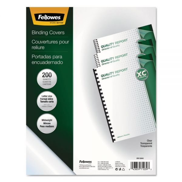 Fellowes Crystals Clear Presentation Binding Covers
