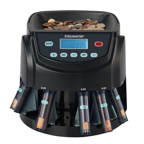 SteelMaster Coin Counter/Sorter, Pennies through Dollar Coins