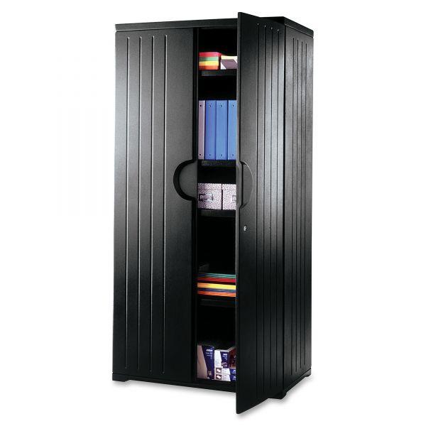Iceberg OfficeWorks Resin Storage Cabinet, 36w x 22d x 72h, Black