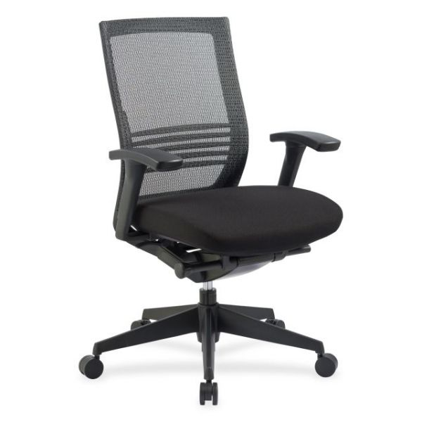 Lorell Mid-Back Mesh Office Chair