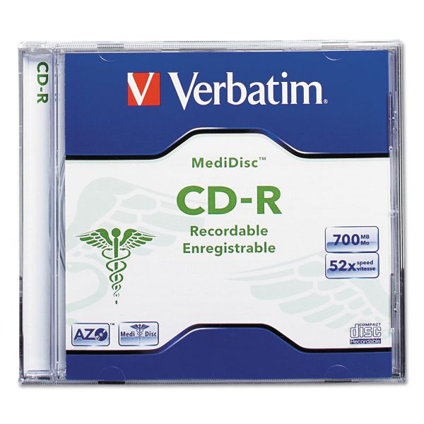 Verbatim MediDisc Recordable CD Media With Jewel Case