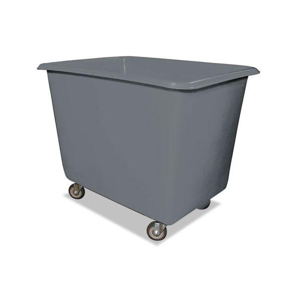 Royal Basket Trucks 12 Bushel Poly Truck w/Galvanized Steel Base, 30 x 40 x 33, 800 lbs. Cap., Gray