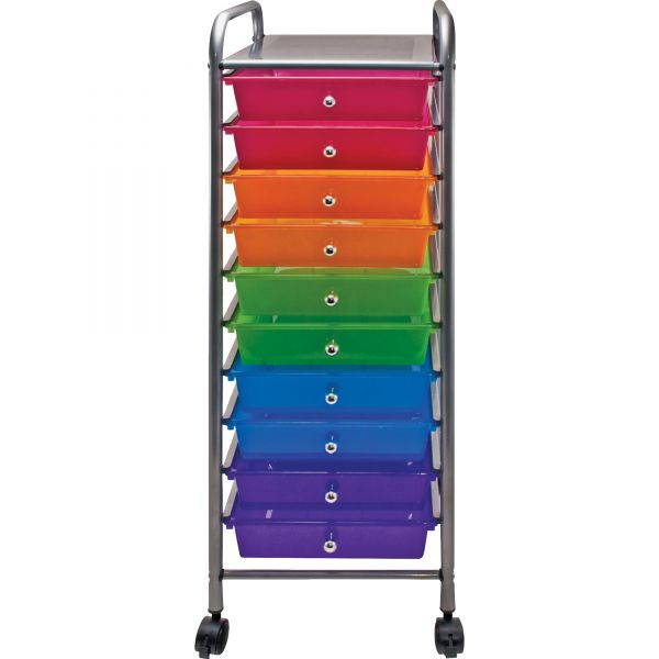 Advantus 10-Drawer Mobile Organizer Cart