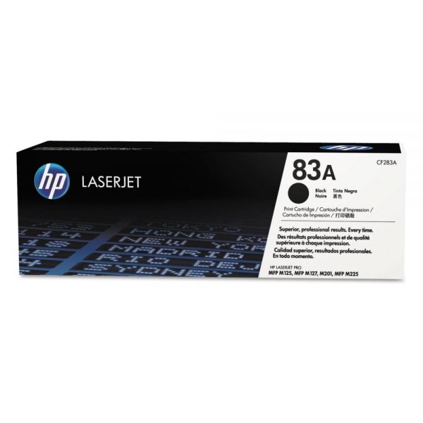HP 83A, (CF283A) Black Original LaserJet Toner Cartridge