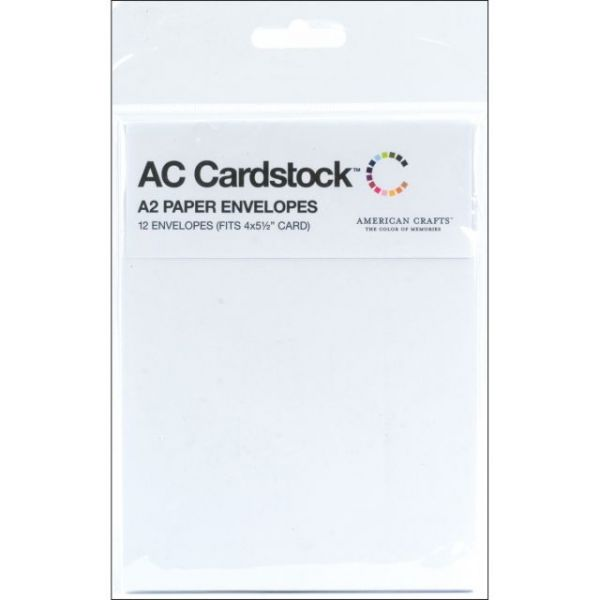 "American Crafts A2 Envelopes (4.375""X5.75"") 12/Pkg"
