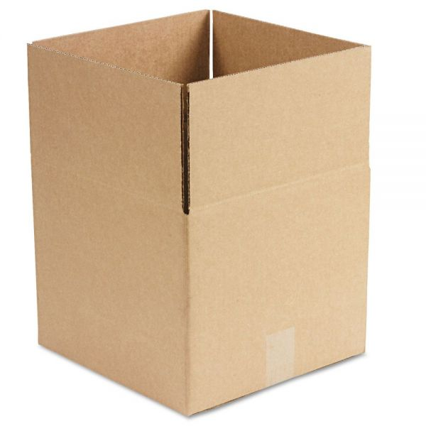 General Supply Brown Corrugated - Fixed-Depth Shipping Boxes, 12l x 12w x 10h, 25/Bundle