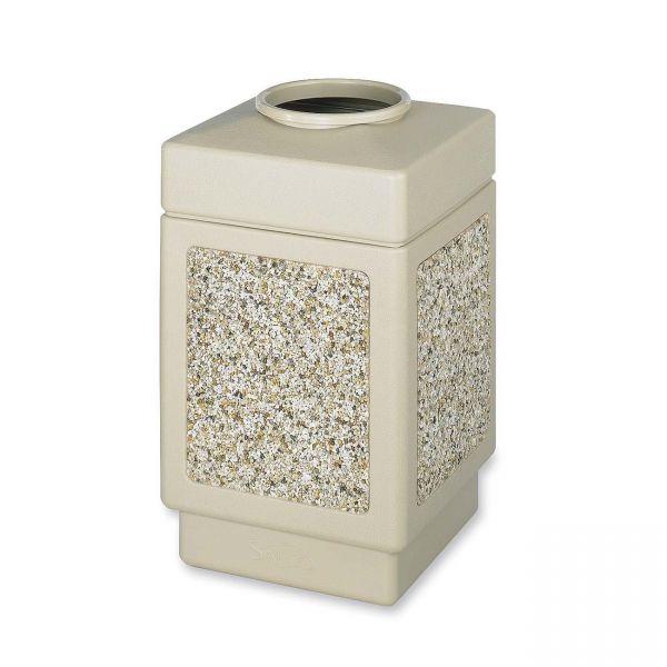 Safco Canmeleon Open-Top 38 Gallon Trash Can