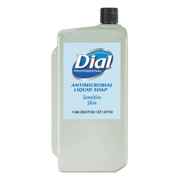 Dial Liquid Antimicrobial Hand Soap for Sensitive Skin Refill