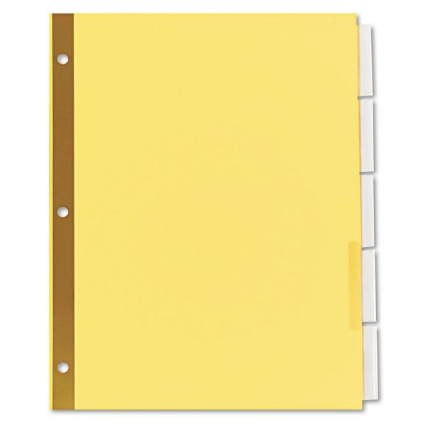 Universal Extended Insert Indexes, Five Clear Tabs, Letter, Buff, 6 Sets/Pack