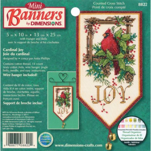 Dimensions Banners Cardinal Joy Counted Cross Stitch Kit