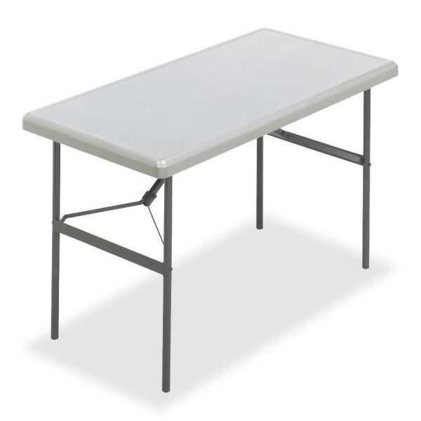 Iceberg IndestrucTables Too 1200 Series Resin Folding Table, 48w x 24d x 29h, Platinum
