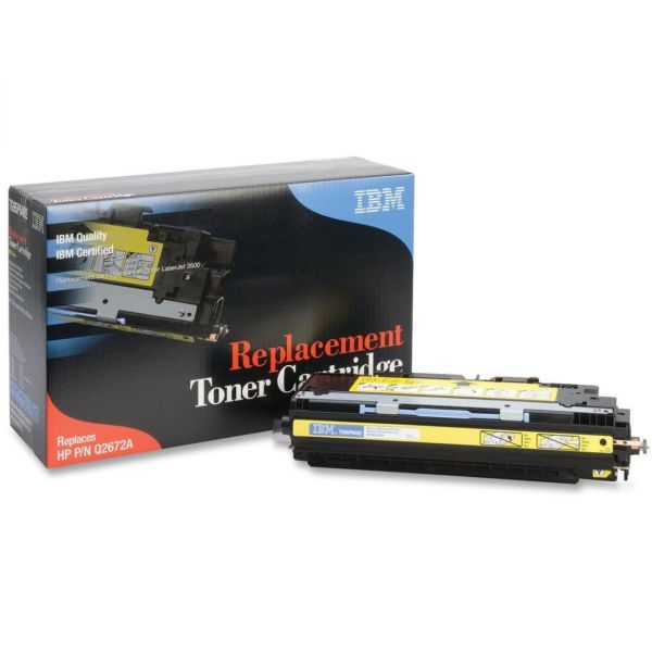 IBM Remanufactured HP Q2672 Yellow Toner Cartridge