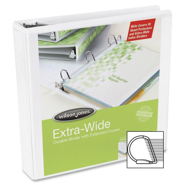 """Wilson Jones Extra-Wide 2"""" 3-Ring View Binder"""