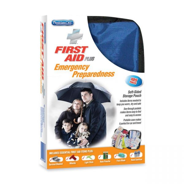 PhysiciansCare by First Aid Only Soft-Sided First Aid and Emergency Kit, 105 Pieces/Kit