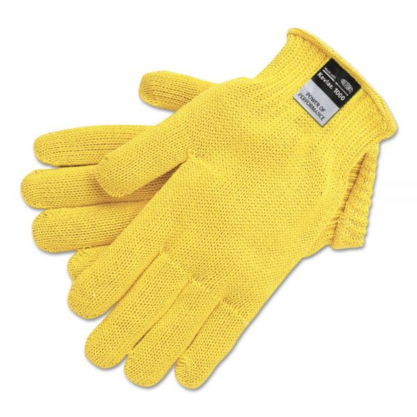 MCR Safety 9370 Dupont Kevlar String Knit Gloves, 7 gauge, Yellow, X-Large, 1 Dozen