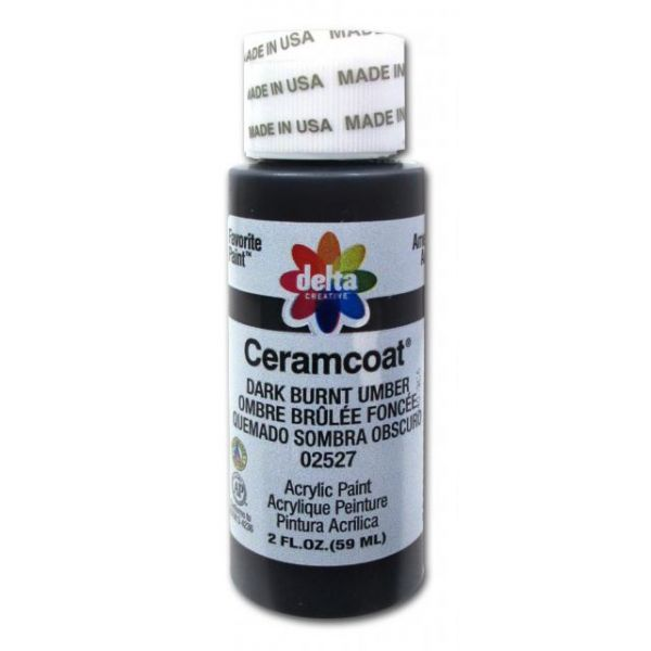 Ceramcoat Dark Burnt Umber Acrylic Paint