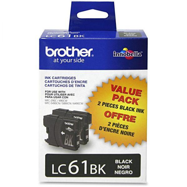 Brother LC61BK Black Ink Cartridges