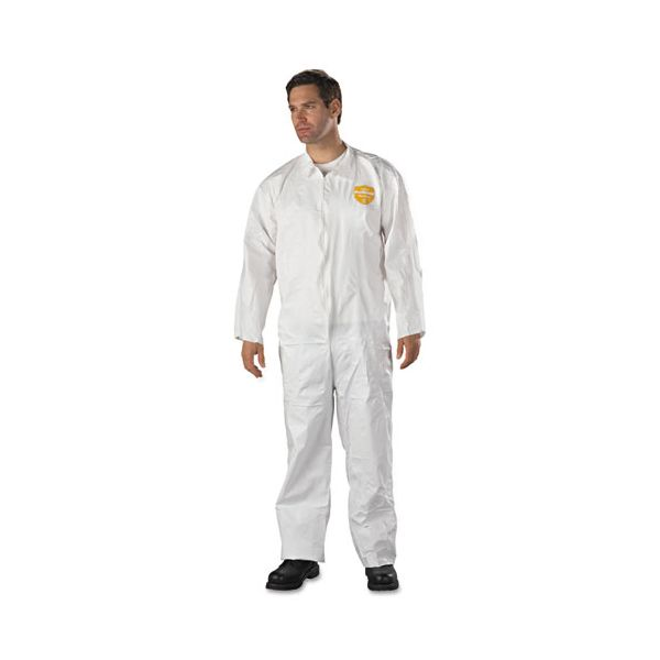 DuPont ProShield NexGen Coveralls, HD Polyethylene, White, Size 2X-Large, 25/Carton