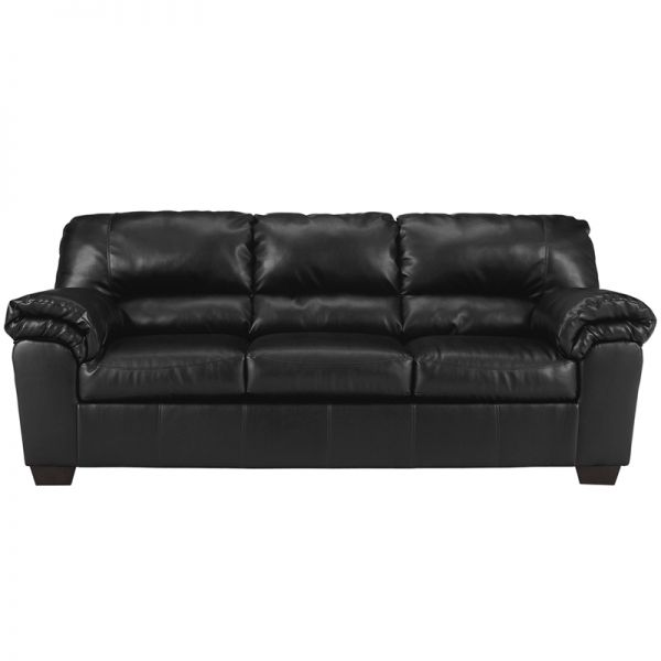 Flash Furniture Signature Design by Ashley Commando Sofa in Black Leather