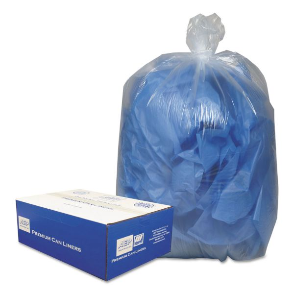 Webster Clear Linear 60 Gallon Trash Bags