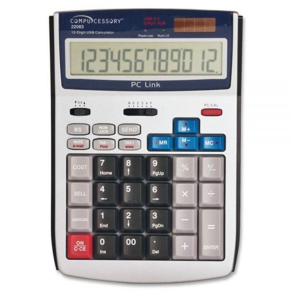 Compucessory 12-Digit LCD Calculator