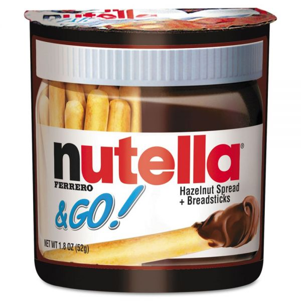 Nutella Hazelnut Spread and Breadsticks, 1.8oz, 12/Box