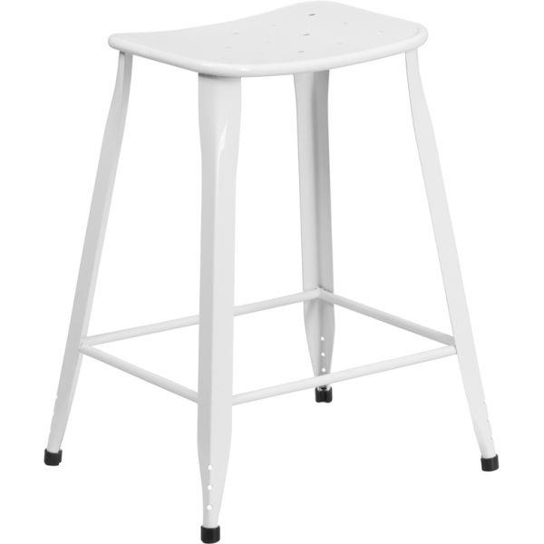 Flash Furniture 24'' High Metal Indoor-Outdoor Counter Height Stool