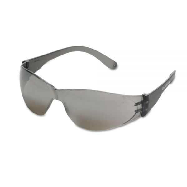 MCR Safety Checklite Safety Glasses, Clear Frame, Indoor/Outdoor Lens