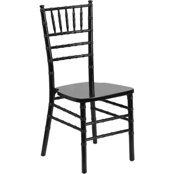 Flash Furniture Black Wood Chiavari Chair