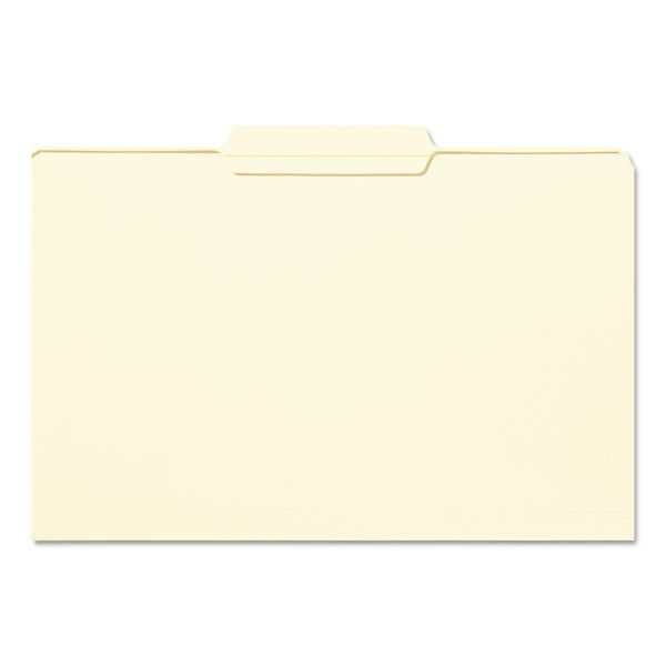 Smead File Folder, 1/3 Cut Second Position, Reinforced Top Tab, Legal, Manila, 100/Box