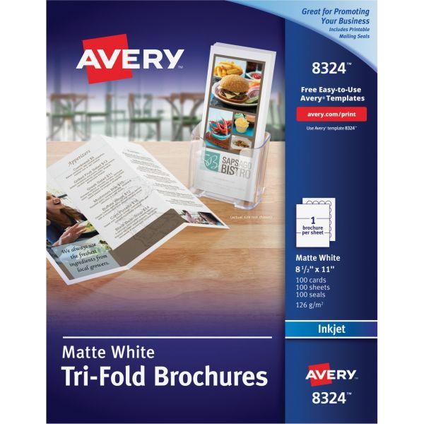 Avery Tri-Fold Brochure Paper