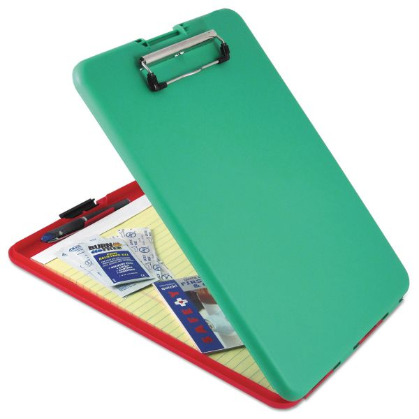 "Saunders SlimMate Show2Know Safety Organizer, 1/2"" Clip Cap, 9 x 11 3/4 Sheets, Red/Green"