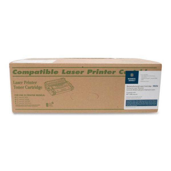 Business Source Remanufactured HP 43X Black Toner Cartridge