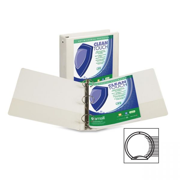 """Samsill Clean Touch 3"""" 3-Ring View Binder"""