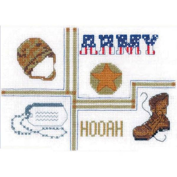 Army Sampler Mini Counted Cross Stitch Kit