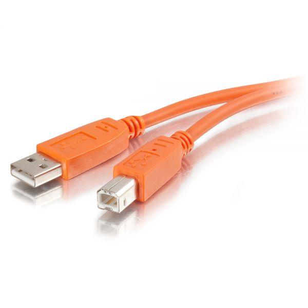 C2G 2m USB 2.0 A/B Cable - Orange