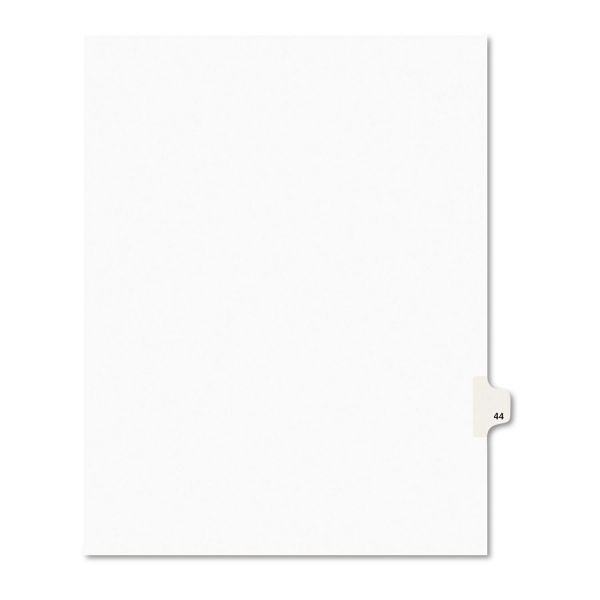 Avery Avery-Style Legal Exhibit Side Tab Divider, Title: 44, Letter, White, 25/Pack