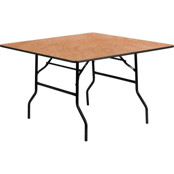 Flash Furniture 48'' Square Wood Folding Banquet Table