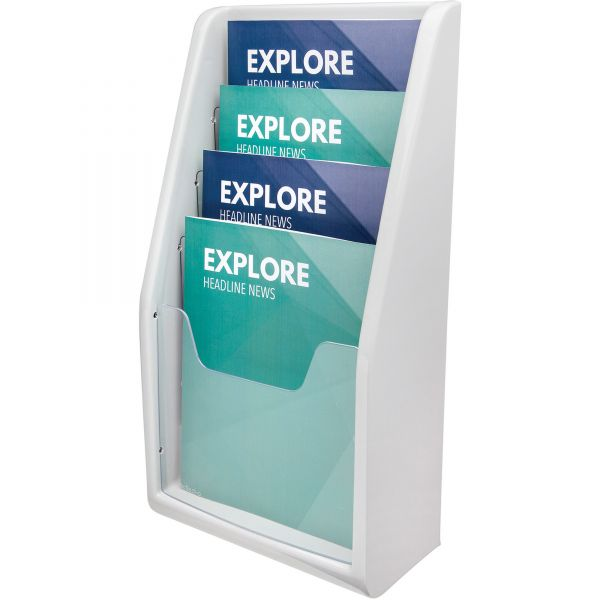 deflecto Multi-Tiered Desktop/Wall-Mount Literature Display Rack