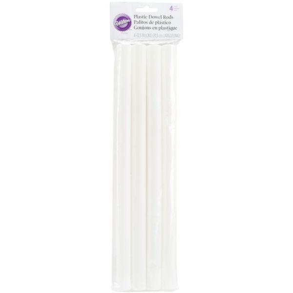 Plastic Dowel Rods 4/Pkg