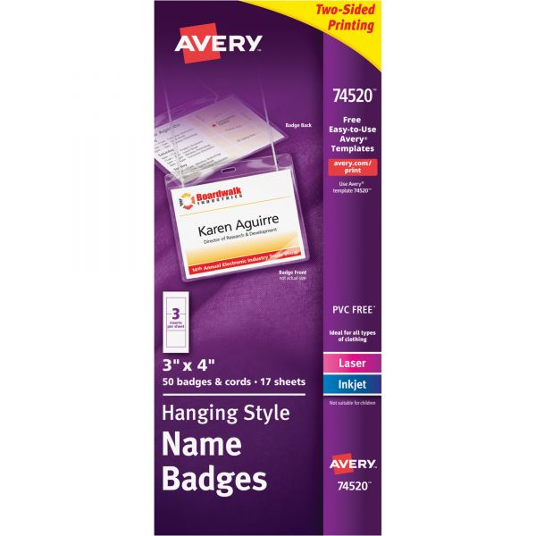 Avery Hanging Name Badges